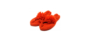 Handmade Red Slippers