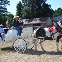 """Wounded Warriors at ROMA's Clydesdale Farm"" featured in the Rocky Mount Telegram"